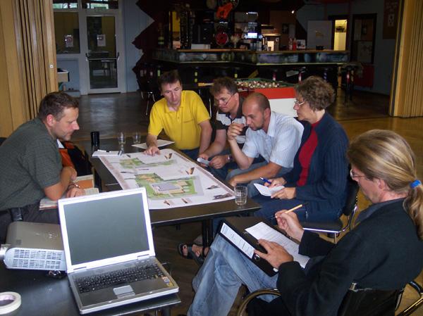 erste Planung im Jahr 2008 mit der Kommune zusammen