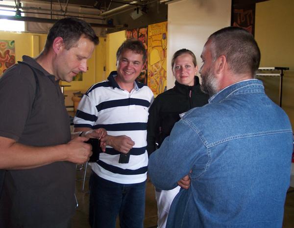 im Gespräch mit Herr Zech (Grünflächenamt), Ronald Pohle (MdL), Jana Krause (Set 74 e.V.) und Ronald Gilbert (Bürgerverein)