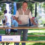 Malermeister Frank am Stand des BV Sellerhausen-Stünz